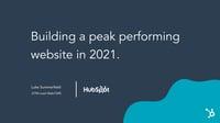 London HUG (12_8_20) - Building Peak Performing Websites in 2021 Do you have enough SaaS